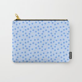 Blue pawprints Carry-All Pouch