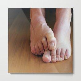 Mans feet (large) Metal Print