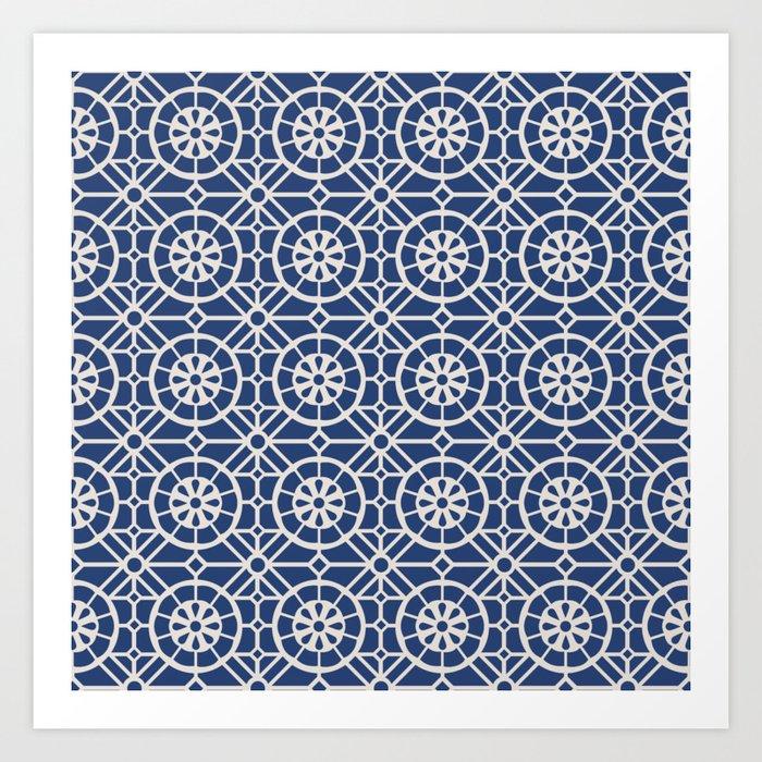 Azul Tiles (Patterns Please) Art Print