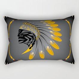 Honor and Strength Yellow Rectangular Pillow