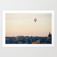 stockholm Art Prints featuring Stockholm by DAMION LAWRENCE