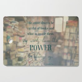 The power of books - Book Quote Collection Cutting Board