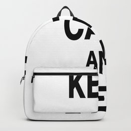 Keep Calm and Read Books Backpack