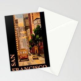 San Francisco California Classical Retro Poster Stationery Cards