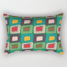 Mid Century Quilt Pink #homedecor Rectangular Pillow