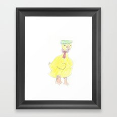 Childhood Drawings (Duck) Framed Art Print