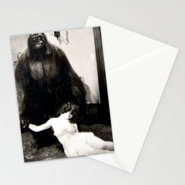 When You Need to Update Your Tinder Profile Photograph classic black and white gorilla and girl photograph Stationery Cards