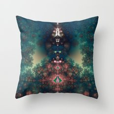 Green Fairy Tale Throw Pillow