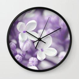 Lilac 167 Wall Clock