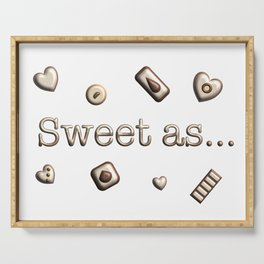 Chocolates Sweet As - in Text Serving Tray