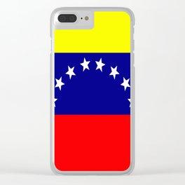 Flag of Venezuela Clear iPhone Case