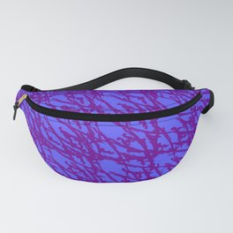 Braided geometric pattern of wire and green arrows on a dark background. Fanny Pack