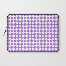White and Lavender Violet Diamonds Laptop Sleeve
