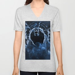 CHIEF CHARGING BEAR Unisex V-Neck