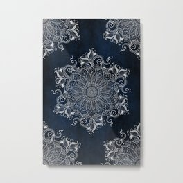 Multiple Artic Mandalas Metal Print