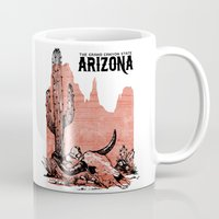 arizona Mugs featuring Arizona by Krikoui