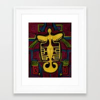 colombia Framed Art Prints featuring Colombia Art  by Adriana Mateus