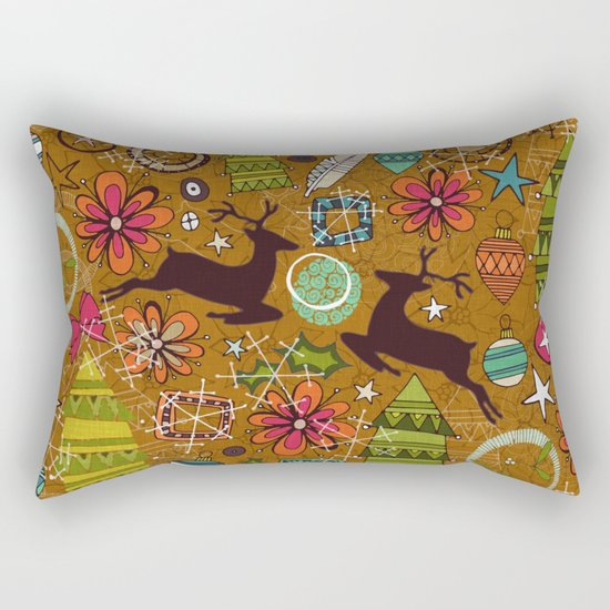 joyous jumble gold Rectangular Pillow