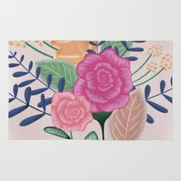 Flower bouquet Rug