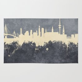 Hamburg Germany Skyline Rug