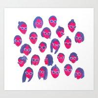 sunglasses Art Prints featuring Sunglasses by leah reena goren