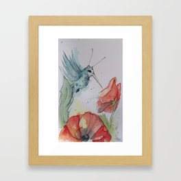 Humming Bird with antenna Framed Art Print