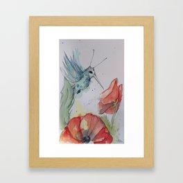 Humming Bird with antenna Framed Art Print