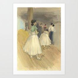 Dancers Waiting Art Print