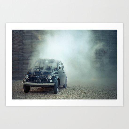 cloud car Art Print