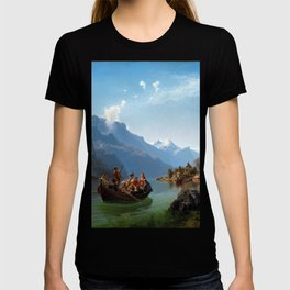 Hans Gude Bridal Procession on the Hardangerfjord T-shirt