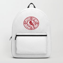 Traditional chinese paper cut Backpack