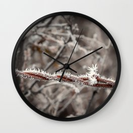 Frosty Barbed Wire Wall Clock