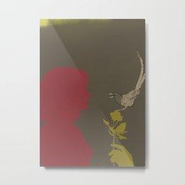 Toma Un Flor Metal Print