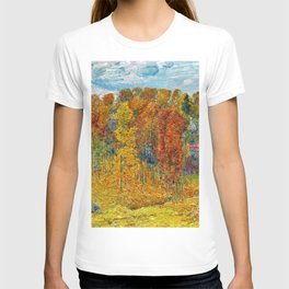 Classical Masterpiece 'Autumn in New England' by Frederick Childe Hassam T-shirt