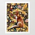 Fox King Original Water Color by djinnbear