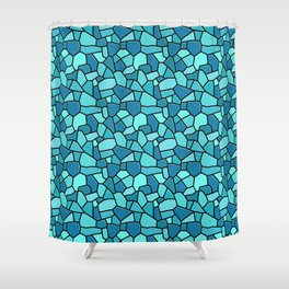 Stained Glass Blue Shower Curtain