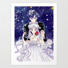 Princess Serenity & Prince Endymion Art Print