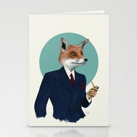 mr fox Stationery Cards featuring Mr. Fox by FAMOUS WHEN DEAD