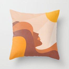 Girl Power - Glow Getter  Throw Pillow