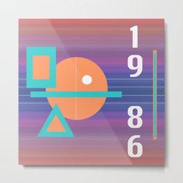 Geometric '86 Metal Print