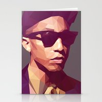 hip hop Stationery Cards featuring Hip hop poly by Breno Bitencourt