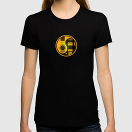 Yellow and Black Acoustic Electric Yin Yang Guitars T-shirt