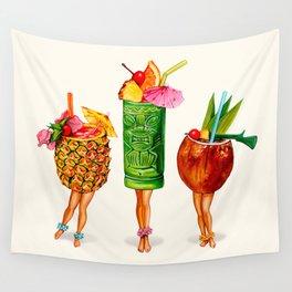 Tiki Cocktail Pin-Ups Wall Tapestry