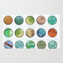 Planets Pattern Rug