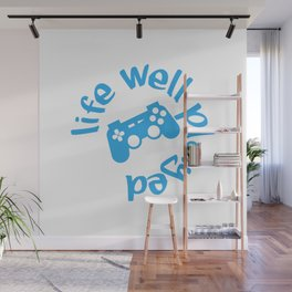 Gamer Life Well Played V1 Wall Mural