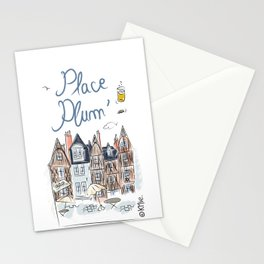 Place Plum'de Tours Stationery Cards