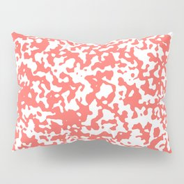 Small Spots - White and Pastel Red Pillow Sham