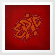 EPiC on red Art Print
