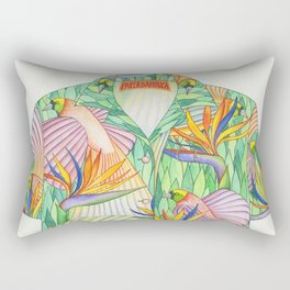 Birds of Paradise Shirt Rectangular Pillow