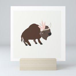 Buffalo Rose Pink Feather Mini Art Print